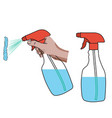 spray cleaner vector image