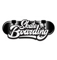 stylish calligraphic inscription - skateboarding vector image vector image