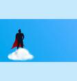 super hero on cloud vector image vector image
