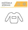 sweatshirt editable stroke line icon vector image vector image