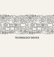 technology device banner concept vector image vector image