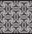 textured metallic 3d seamless pattern vector image