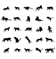 Tiger silhouettes set vector image