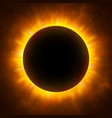 total eclipse of the sun with corona solar vector image vector image
