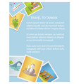 travel to taiwan informative card with photos vector image