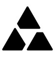 triangle logo symbol - aperture like triangle vector image vector image