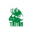 Triton Trident Isolated Retro vector image