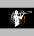 trombone musician orchestra instrument vector image