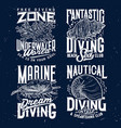 tshirt print with sketch sea shells and corals set vector image