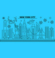united states new york city winter holidays vector image vector image