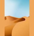 vertical endless dry desert landscape with sand vector image
