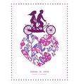 vibrant field flowers couple on tandem bicycle vector image vector image