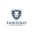 wild lion head logo design vector image vector image