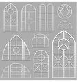 window frames set white vector image