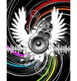 wings of music vector image vector image