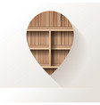 wood shelf on wall room background vector image