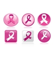 Breast Cancer Ribbon Pack vector image