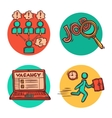 Job business concept icons composition vector image