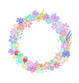 Cute colorful flowers frame vector image
