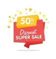 Sale banner isolated origami sticker vector image