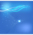 Abstract blue background with waves vector image