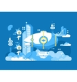 Airship design flat vector image