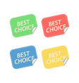 best choice labels isolated on white vector image vector image