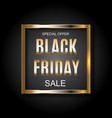 Black friday sale inscription banner design