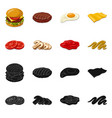 burger and sandwich symbol vector image vector image
