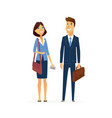 business man and woman - modern flat design people vector image vector image