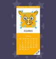 calendar for january 2019 vector image vector image