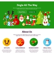 Christmas Jingle Web Design vector image vector image
