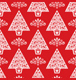 christmas tree folk art seamless pattern- s vector image vector image