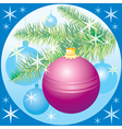Christmas tree on blue background vector image vector image