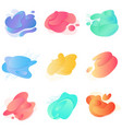 color abstract liquid modern gradient shape fluid vector image vector image