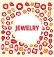 colorful jewelry flat icons luxury concept design vector image vector image