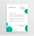 creative circles letterhead design template vector image vector image