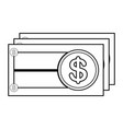 currency bill icon image vector image vector image