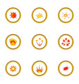different explosion icons set cartoon style vector image vector image
