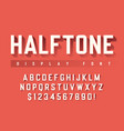 display font design with halftone shadow vector image