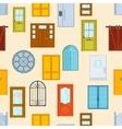 Doors seamless pattern vector image vector image