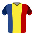 flag t-shirt of romania vector image