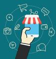 Flat design modern web shopping concept vector image vector image