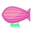 Flying airship icon cartoon style vector image vector image