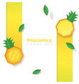 fresh pineapple fruit background paper art style