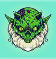 green monster vape cloud vector image vector image