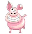 happy pig smile vector image