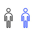 human outline icon vector image vector image