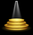 Illuminated Festive Golden Premium Stage Podium on vector image vector image