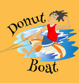 inflatable watercraft banana boat water extreme vector image